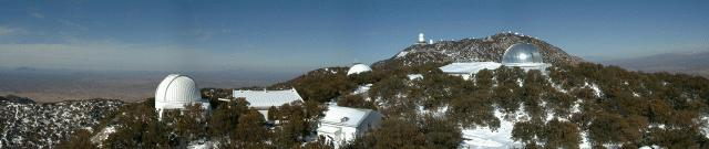 Panoramic view of the MDM Observatory in winter