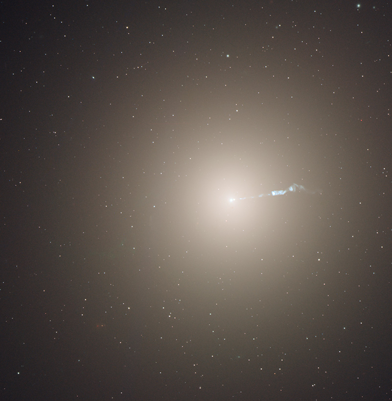 Jet from the supermassive black hole in the M87 galaxy