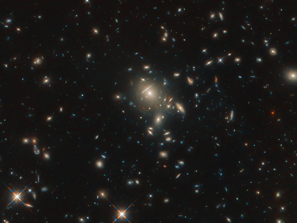 Image of a cluster of galaxies
