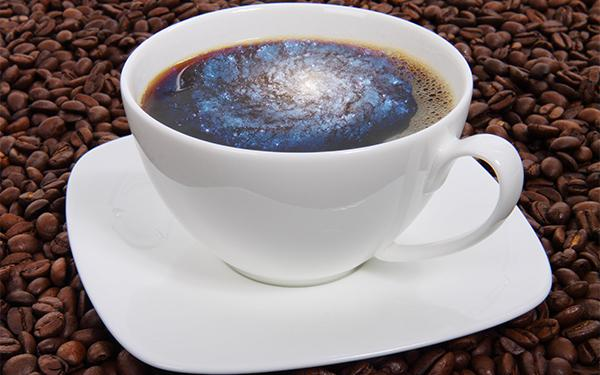 Galaxy in a coffee cup