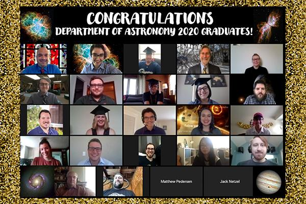 Picture of all the 2020 Astronomy Graduates
