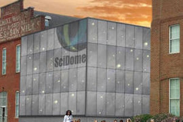 Rendering of new planetarium in Newark