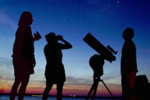 Star party at sunset