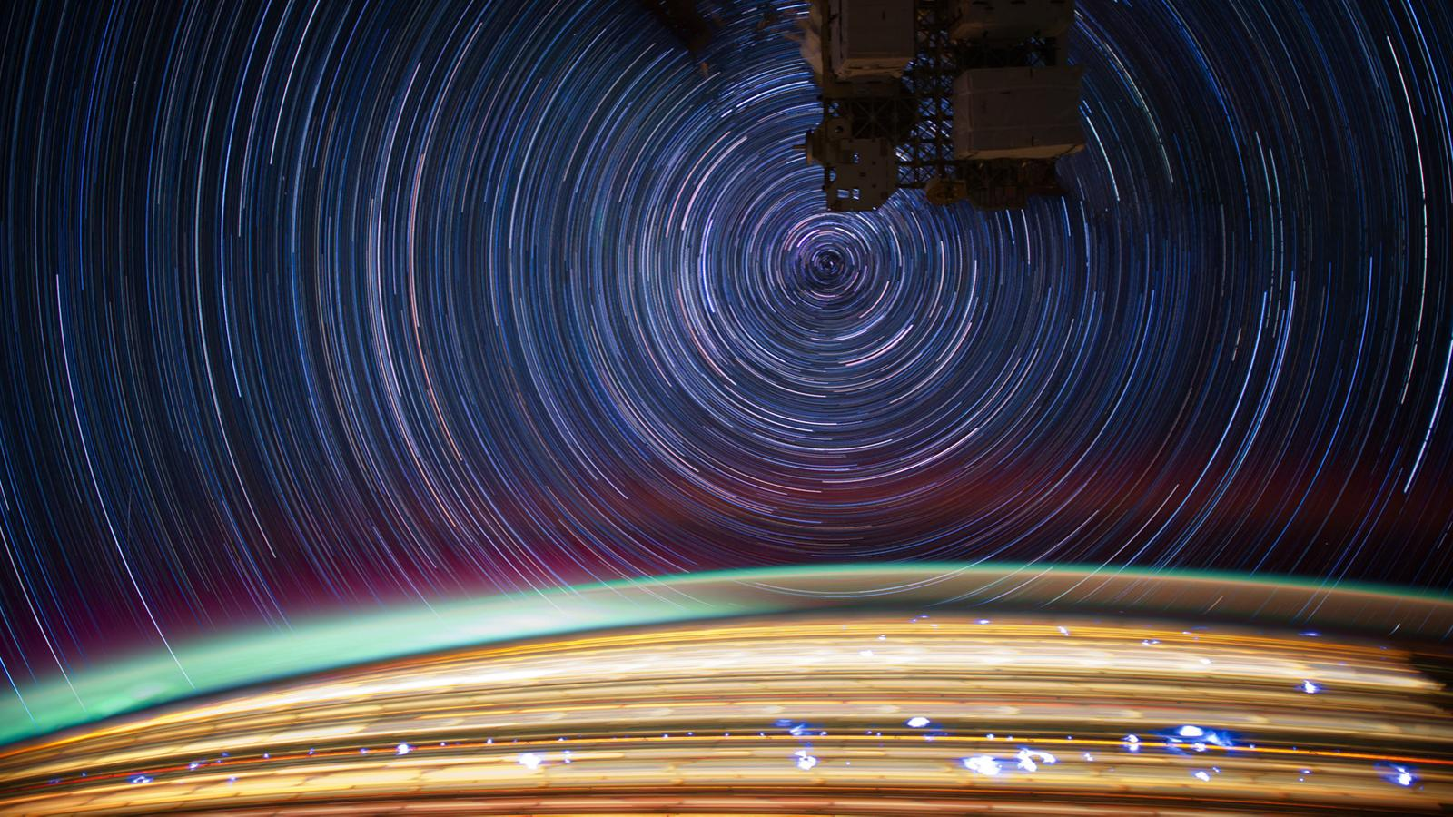 Star trails from the International Space Station